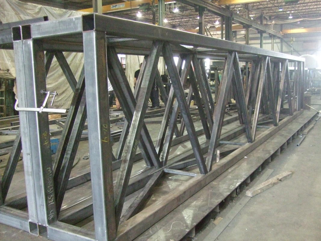 Mild steel structure trusses
