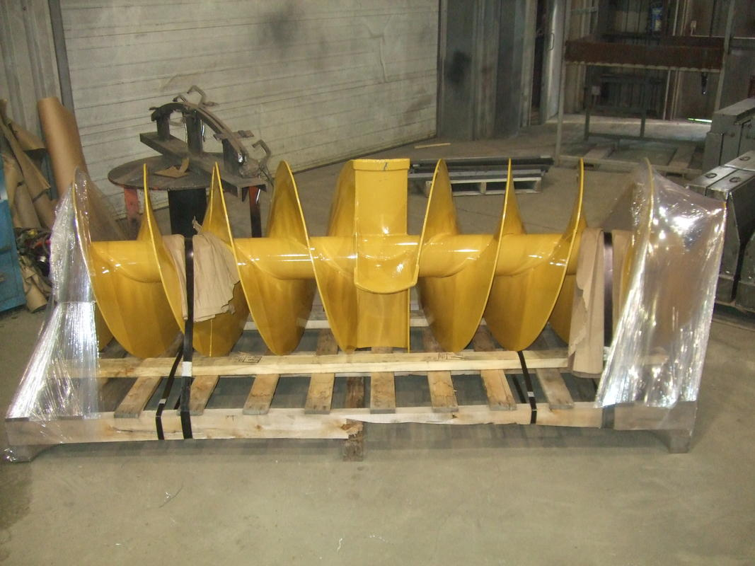 Snow blower augers