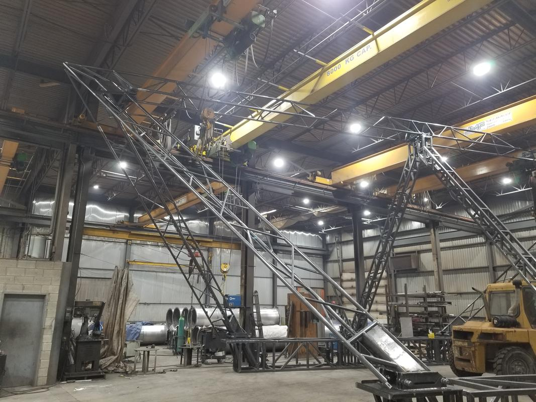 Mild steel structure for stage show